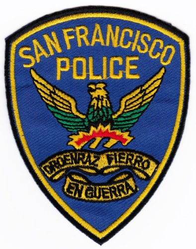 Aufnäher Bügelbild Aufbügler Iron on Patches Applikation Uniform US San Francisco Police Polizei