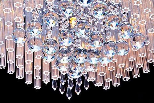 SaintMossi® Modern Unterputzmontage Wohnzimmer Kristall Deckenleuchte Kronleuchter 12 X G9 Lampenfassung Länge 40cm X Höhe 25cm X Breite 40cm - 4