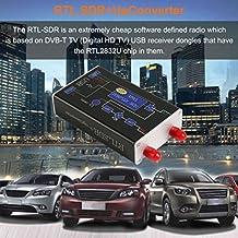 100KHz-1.7GHz RTL.SDR + UpConverter Wide SDR Receptor DBM HF UHF VHF Ham Radio (Color: Negro)