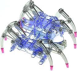Hemore Elektro-Spider-Roboter wissenschaftliche Roboter Spielzeug-Bildung montiert Spielzeug-Kits für Kinder (Batterie Nicht enthalten)