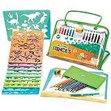 Set de Arte de Plantillas de Dibujo Para Niños de Creabow Crafts - Actividad Para Viajes y Juguete Educativo Para Mejorar la Creatividad - El Regalo Ideal Para Niños y Niñas Desde 4 años