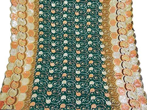 vintage-dupatta-longue-echarpe-indienne-decor-art-tissu-brode-vert-voile-stole