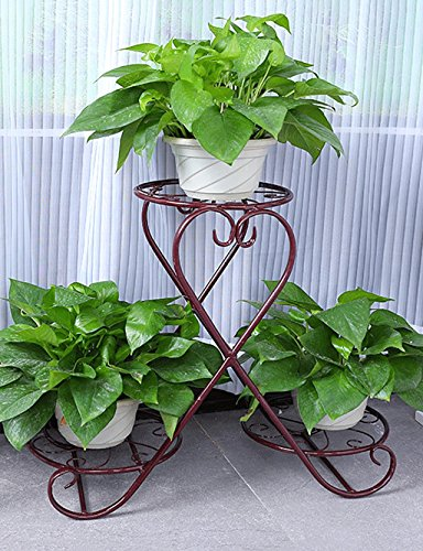 Lx plant flower pot display shelf rack creativo decorazione fiore multistrato rack pavimento tipo fiore stile europeo ferro fiore fioriera da balcone, mensola semplice soggiorno moderno interni fiore rack rack di stoccaggio per esterni ed interni vasi holder a