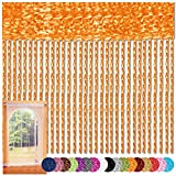 Bestlivings Fadenvorhang 90x240 Fadengardine Insektenschutz Raumteiler Auswahl: Orange - Apricot