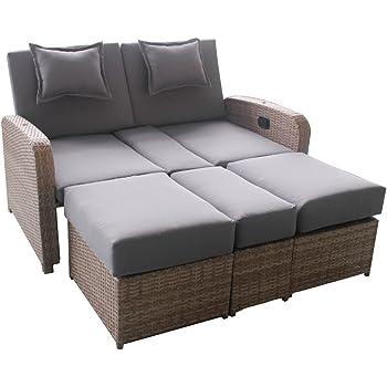 greemotion canap lit d 39 ext rieur orlando en r sine tress e canap de jardin terrasse 2 places. Black Bedroom Furniture Sets. Home Design Ideas
