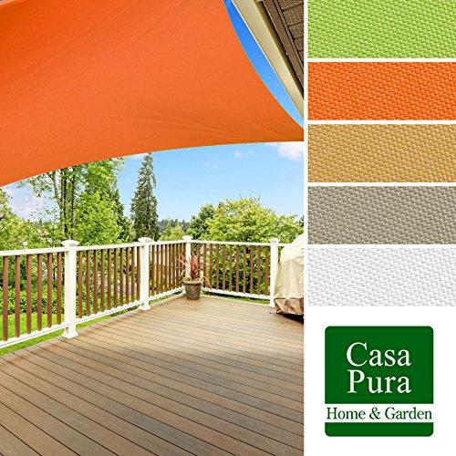 Voile d'ombrage casa pura® en coloris divers | matière imperméable - lavable en machine | taille 5x7m | densité 160g par m² | gris