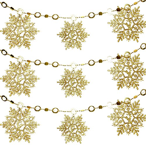 trixes-gold-glittering-beaded-snowflake-chain-christmas-decoration-for-xmas-tree-home-kitchen-bedroo
