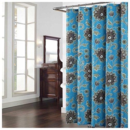 DACHUI Duschvorhang, wasserdichte Mehltau dickeres Material aus Polyester Duschvorhang 183x183 cm, 200x260 cm verdickt, warm (Farbe: 200*220cm)