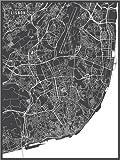 Poster 30 x 40 cm: Lissabon Portugal Karte von Main Street