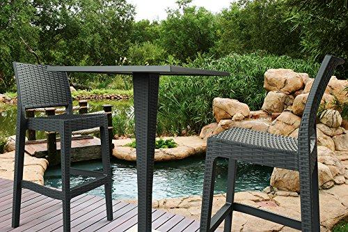 Clp sgabello outdoor jamaica impilabile sgabello bar da esterno