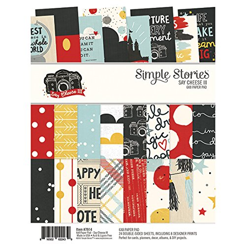 Simple Stories Say Cheese III 15,2 x 20,3 cm Doppelseitiges Papier Pad 7914