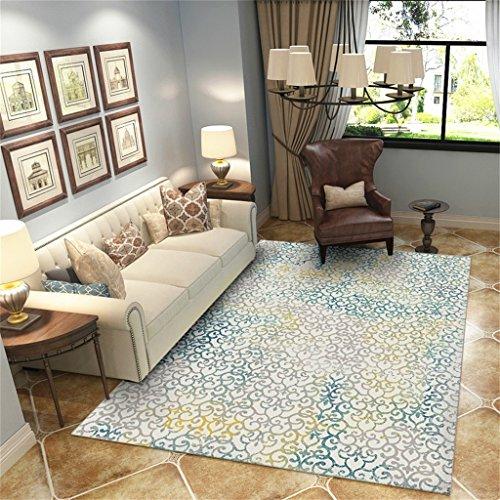 Tapis rectangulaire antidérapant de tapis d'impression nordique de concepteur dans la chambre à coucher et le salon Table de chevet lavable de tapis de table à la maison (taille : 200 * 280cm)