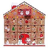 TOYLAND Gingerbread House 3D Grand Calendrier de l'avent, avec des boîtes de retenue des Dates