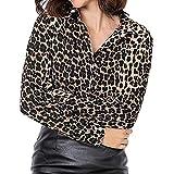 TianWlio Weihnachten Pullover Langarmshirt Bluse Hoodie Frauen Herbst Winter Leopardenmuster Langarm Tanktop T-Shirt Bluse (L, Kaffee)