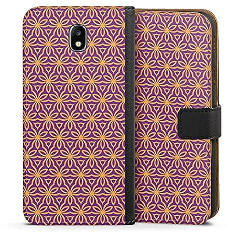 Samsung Galaxy J7 2017 Tasche Hülle Flip Case Blumen Illusion Muster