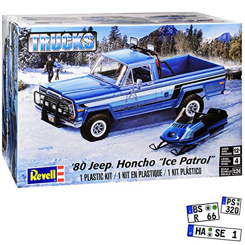 Jeep Honcho Pick-up mit Schneemobile 1976-1983 Bausatz Kit 1/24 1/25 Revell Monogram Modell Auto