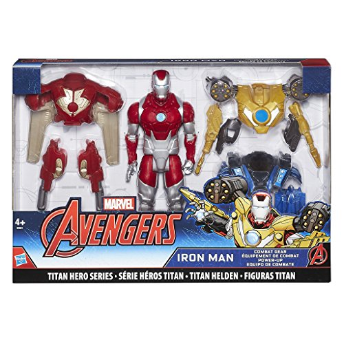 1EU4 - Titan Hero Iron Man Power-Up, Actionfigur (Iron Man-power)