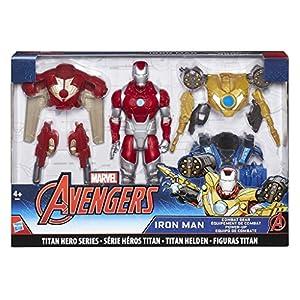 Avengers- Marvel Titan Hero Series Iron Man Combat Pack Figura articulada, (Hasbro B9961EU4)