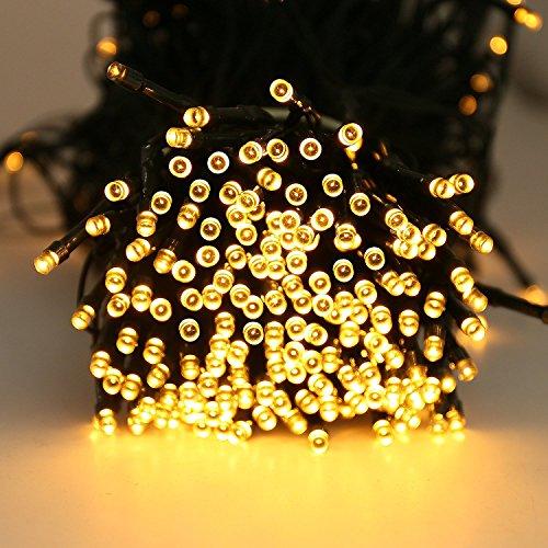 Quntis 300er 40m LED Lichterkette Batteriebetrieben Timer Warmweiß, Weihnachtsbeleuchtung Außen Innen Wasserdicht, 8 Modi, Dekolicht für Xmas Hochzeit Geburtstag Party Garten Zimmer Terrasse Balkon