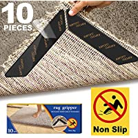 Karoro Non-Slip Mat for Carpet, Pack of 10 Carpet Grippers Non-Slip Mat Washable Carpet Corner Non-Slip Carpet Stoppers Reusable Non-Slip Protection for Carpet