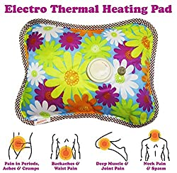 J GO Electric Heating Pad Hot Water Bag For Pain Relief Massage (Multi Color)