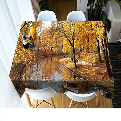 QWEASDZX Tischdecke Kreative Tischdecke 3D Digitaldruck Rechteckige Antifouling Tischdecke Wiederverwendbare Picknicktischdecke Geeignet Für Innen Und Außen 134x183 cm