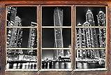 Monocrome, Dubai Burj al Arab Fenster im 3D-Look, Wand- oder Türaufkleber Format: 62x42cm, Wandsticker, Wandtattoo, Wanddekoration
