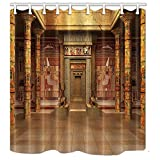 EdCott Tomba egizia con murales egiziani Camera Stile retrò a casa Tenda da Doccia Facile da Pulire per Tende da Bagno dell'hotel