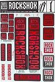 RockShox Aufklebersatz 30/32mm und RS1 rot, SID/Reba/Revelation (<2018) Sektor/Recon/X32/30G/30S/XC30, 11.4318.003.500 Ersatzteile Standrohre