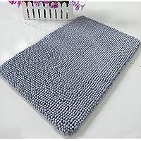 kxrzu - Alfombra de chenilla antideslizante suave para absorción de humedad para el hogar (gris)