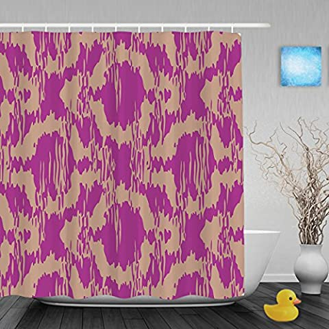 Distressed Moroccan Pattern Bathroom Shower Curtain Morden Style Home Decor Shower Curtains Waterproof Mildewproof Polyester Fabric Purple 66