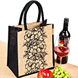 #7: H&B Lunch bag (flower 1,black, Size: 11x9x6 inches )