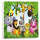 Jungle Animals Light Switch Sticker for Kids Bedrooms