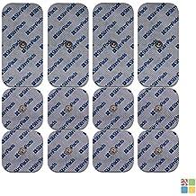 Compex Electrodos. PAQUETE AHORRO de 12 electrodos de alto rendimiento y larga duración (4 X 50X100mm de UN Snap y 8 X 50X50mm). Compatibilidad con Compex garantizada al 100%