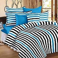 Story at Home Flat Double Bedsheet Set, Multi-Colour, 225 x 250 cm, MT1202