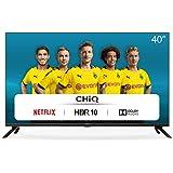 CHiQ L40H7N, 40 inch, Full HD-tv, Smart TV, 1080p, WiFi, Bluetooth, Prime Video, YouTube, Netflix, 3 HDMI, 2 USB, drievoudige