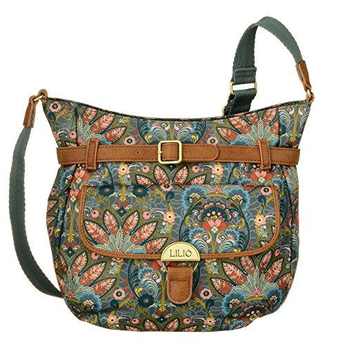 LiLiÓ M Shoulder Bag LIL7511-919-Stone Damen Schultertasche Umhängetasche(26x10x26,5 cm)