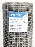 kraptrap® Volierendraht, Drahtgitter, 25mm Masche, 100 cm Breite, 12 m Länge