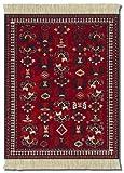 MouseRug MET-1 Asian Collection - Alfombrilla para ratón, diseño de alfombra, color rojo