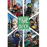 """LEGO Ninjargo película """"seis Ninjas"""" Póster (tamaño grande), multicolor"""