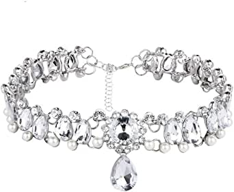 collier ras de cou pendentif crystal
