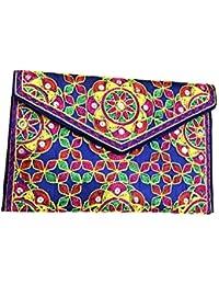 Shubhangi Women's Sling Bag (Jaipuri Embroidered Handicraft Traditional Sling Bags,embroidery Sling Bag,Multi-Coloured...