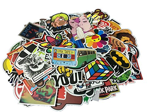 Baybuy Random Sticker 50-500pcs Variety Vinyl Car Sticker Motorcycle Bicycle Luggage Decal Graffiti Patches Skateboard Stickers for Laptop Stickers (100pcs)