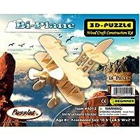 Comparador de precios Puzzled Bi Plane 3D Natural Wood Puzzle by Puzzled - precios baratos