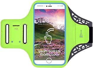 Clispeed Fascia da Braccio Sportiva, Sport Armband Porta Cellulare Resistente al Sudore per iPhone 7/7 Plus/ 8/8 Plus/6/6 Plus Riflettente Armband per Camminare, Corsa, Jogging, Ciclismo e Altre Attività all'Aperto(5.5 Pollici)