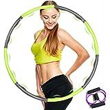 TOP4EVER Hula Hoop Reifen für Erwachsene & Kinder, 6-8 Abnehmbare Abschnitte Hula Reifen Erwachsene für Gewichtsabnahme,Massa