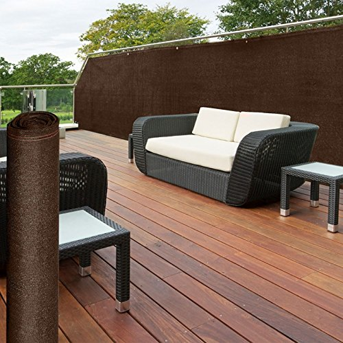 probache brise vue renforc 1 5 x 10 m marron 220 gr m luxe pro le jardin adlibitum. Black Bedroom Furniture Sets. Home Design Ideas