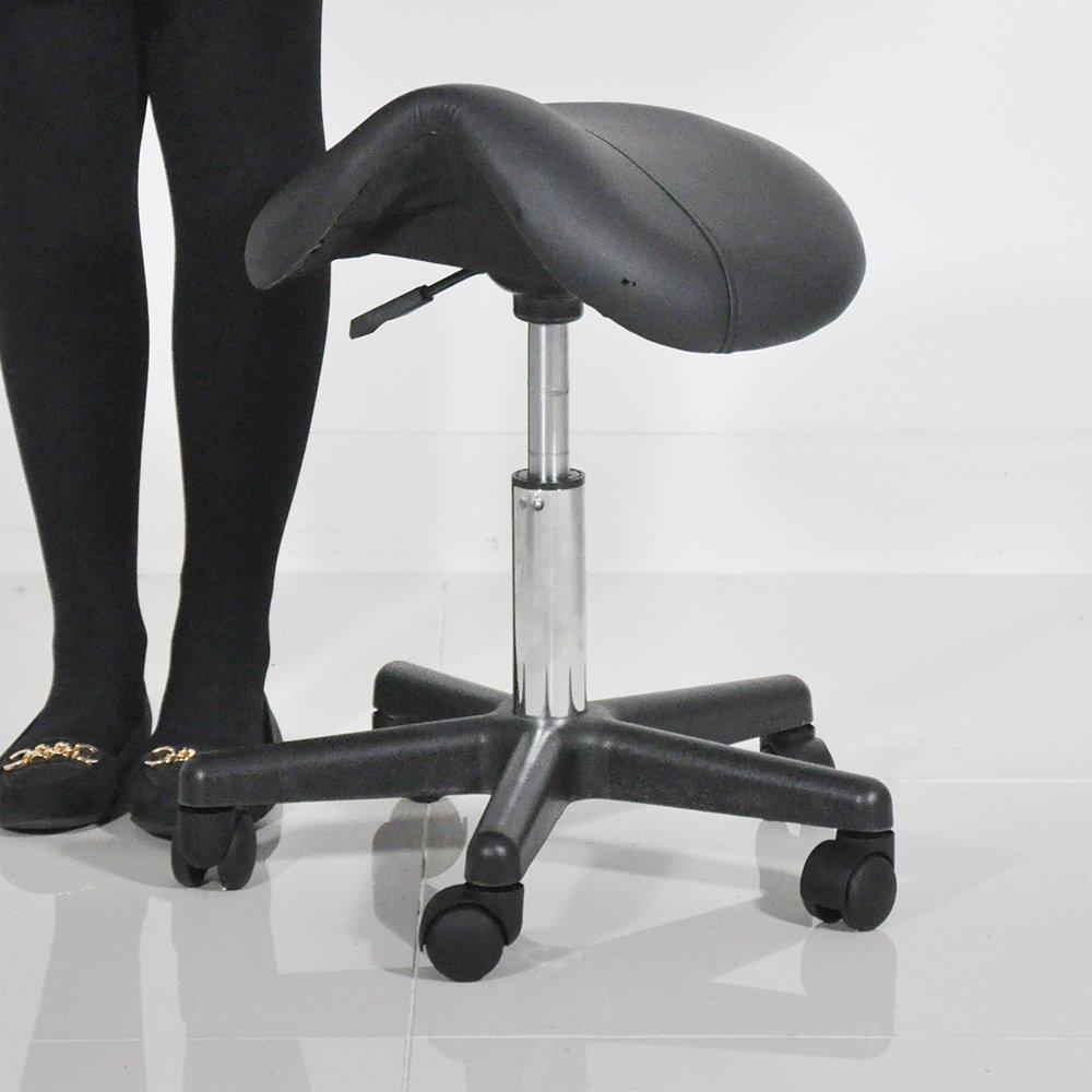 beauty therapist pedicure swivel saddle stool white amazoncouk kitchen u0026 home - Saddle Chair