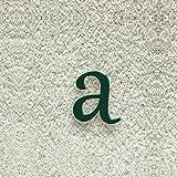 Colours-Manufaktur Hausnummer Nr. a - Schriftart: Klassisch - Höhe: 20-30 cm - viele Farben wählbar (RAL 6005 moosgrün (grün) glänzend, 20 cm)