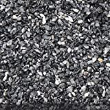 Steinteppich Marmorkies für 2qm | BEKATEQ BK-600EP Bodenbelag Bodenbeschichtung (25KG Marmorkies + 1,5KG Bindemittel, Dunkelgrau - Grigio Carnico)
